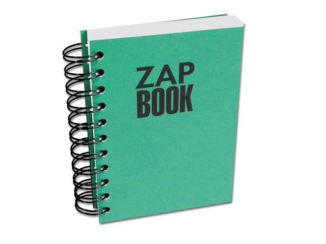 Zap Book esquisse spiralé 10,5x14,8 80g uni 320 pages