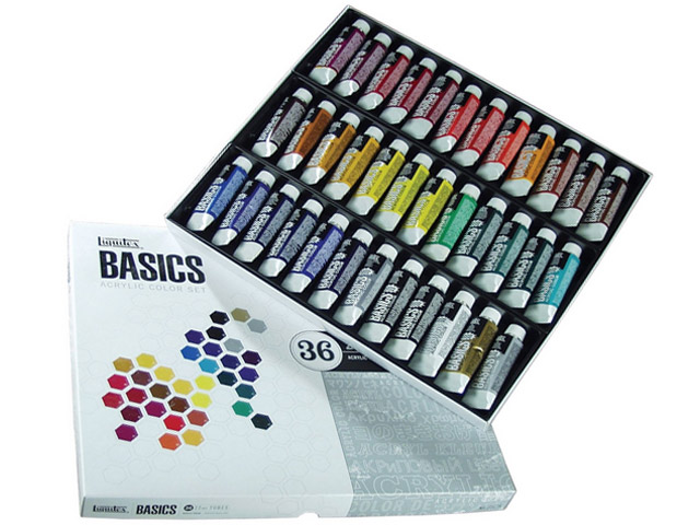 Set Acrylique Liquitex Basics 36 x 22 mL