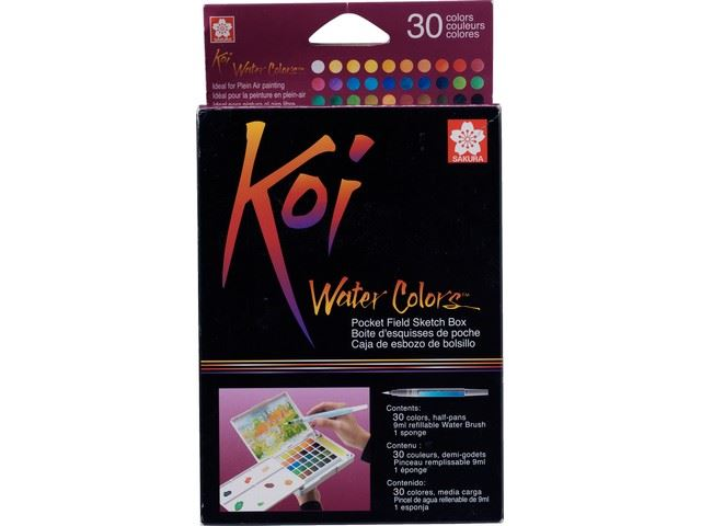 Set de 30 Aquarelles Koi Colors Sketch Box