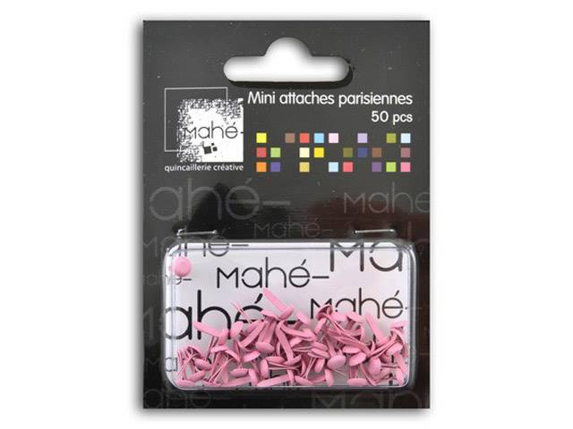 50 Mini Attaches Parisiennes - Rose Pâle