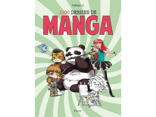 Livre 1000 dessins de manga - 144 pages