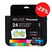 Trousse Promarker Arts et Illustrations 24 feutres