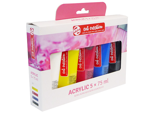 Set de 5 Tubes 75 ml Acrylique Artcréation