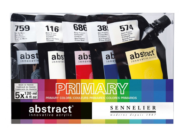 Set 5X120ml Abstract Sennelier