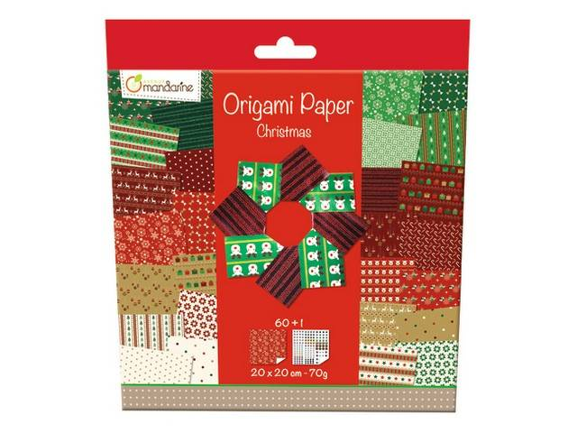 Origami Paper Christmas 20 X 20 Cm 60F 70G