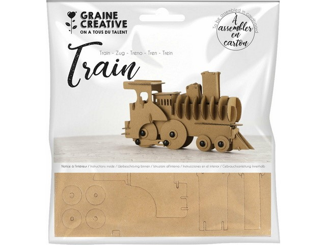 Maquette Train Carton 190x110x40 mm