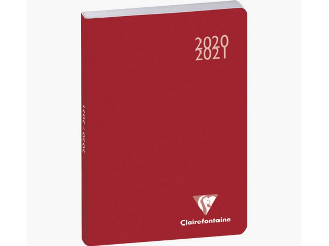 Agenda journalier 2019-2020 FORUM WORK (Rouge)