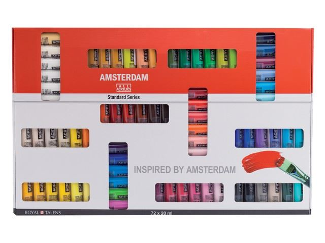 Set 72 tubes 20 ml Acrylique Amsterdam