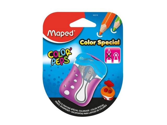 Taille-Crayons Colorpeps 2 Trous, Coloris Assortis