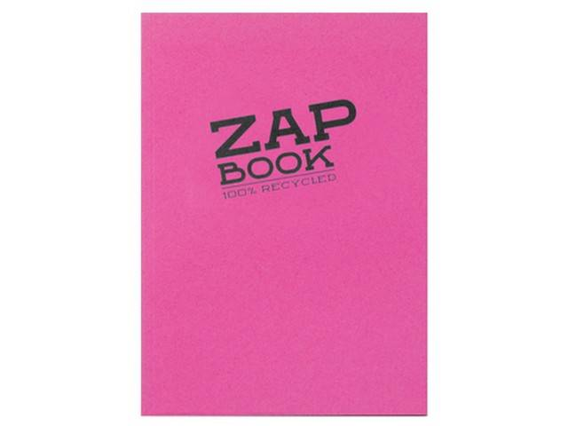 Zap Book Bloc D'Esquisse Broché 14,8X21 Pastels Rose