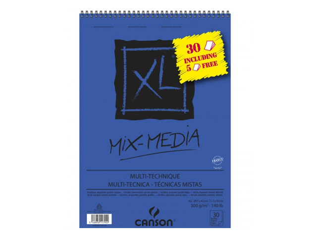 Album XL® spirale 30 feuilles MIX MEDIA A3 300GR