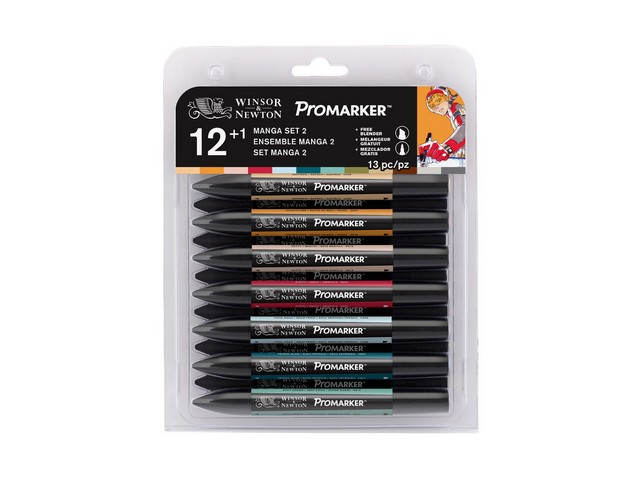 Assortiment 12 PROMARKERS Manga Expansion Set 2
