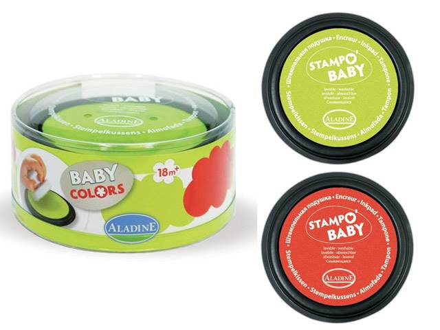 Stampo Baby Encreurs Rouge Vert Anis