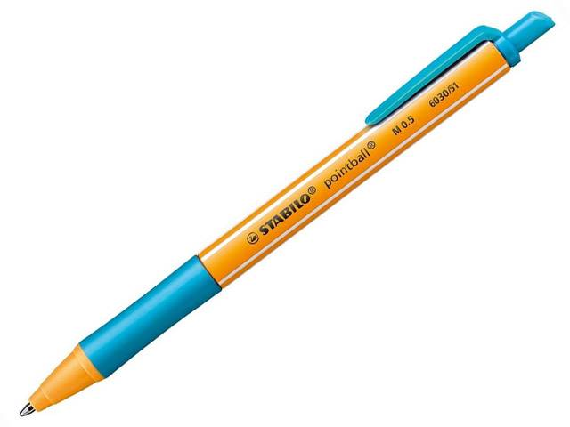 Stylo à Bille Pointball Turquoise Stabilo