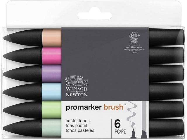 Assortiment 6 Promarkers Brush Marker Tons Pastels