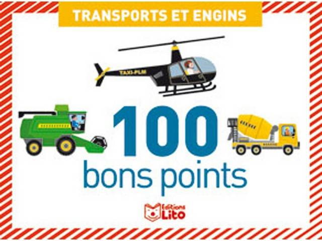 Boîte de 100 bons points : Transport et Engins