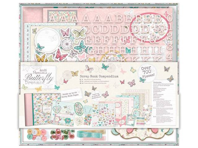 Kit Scrapbook Compendium Butterfly Dreams 700 Pieces