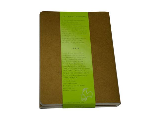 Travel Booklet 2 Books 140G 9X14P 20Fles
