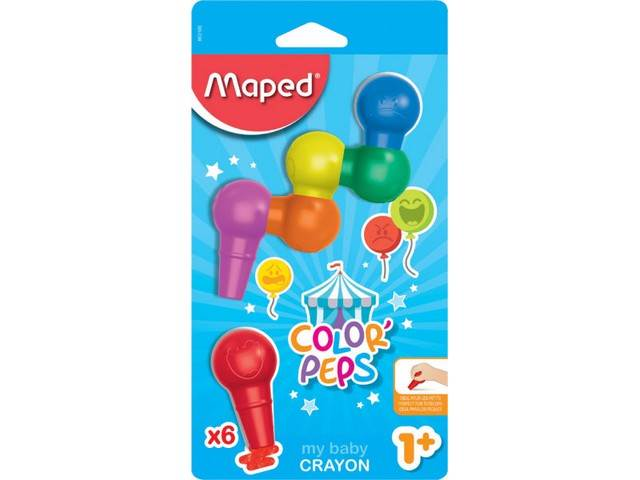 Crayon Bebe Color Peps X6