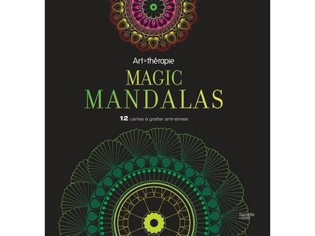 12 Cartes à Gratter Anti Stress Magic Mandalas