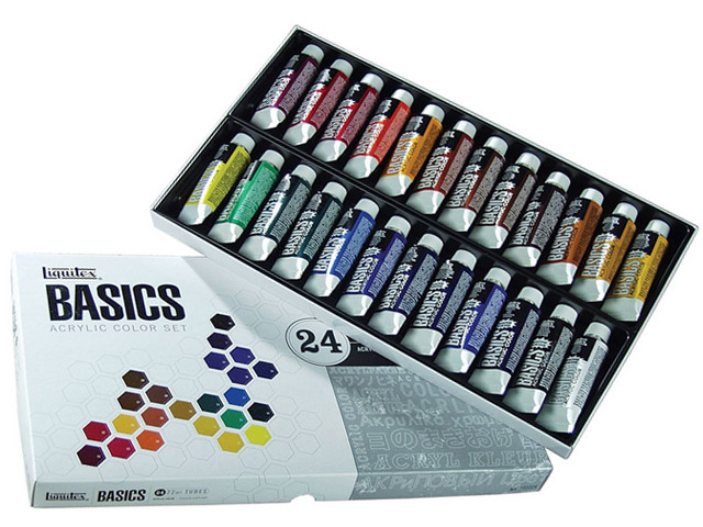 Set Acrylique Liquitex Basics 24 x 22 mL