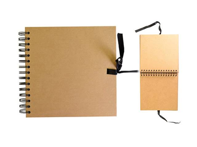 Carnet Scrapbook 20X20 Cm Kraft Naturel