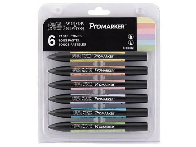 ASSORTIMENT 6 PROMARKERS TONS PASTELS