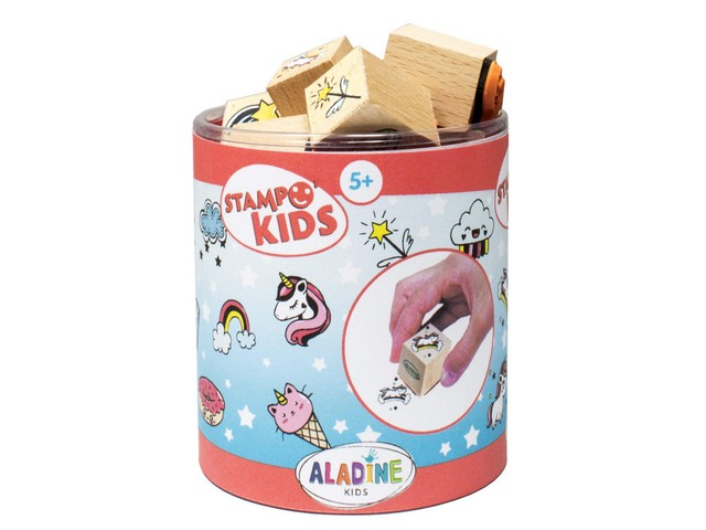 Stampo Kids Licornes - 15 tampons + 1 encreur