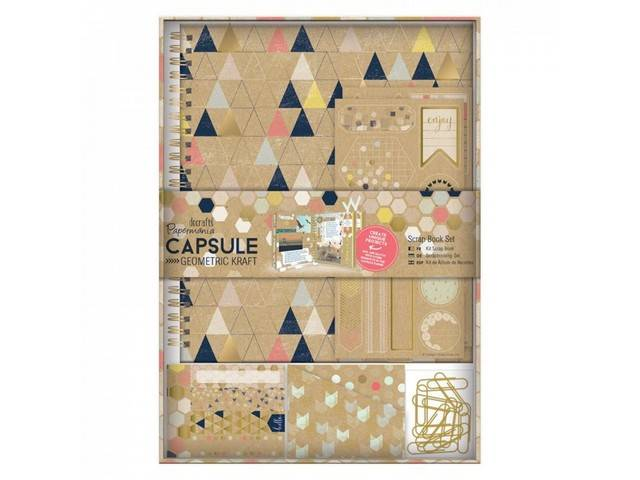 Kit Scrap Book - Capsule - Geometric Kraft