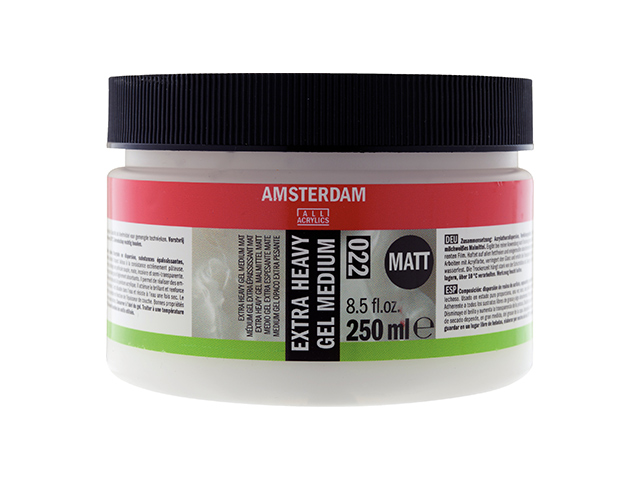 Extra heavy gel medium mat 250 ml Amsterdam Talens