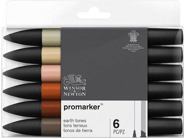 Assortiment 6 Promarkers Tons Terreux