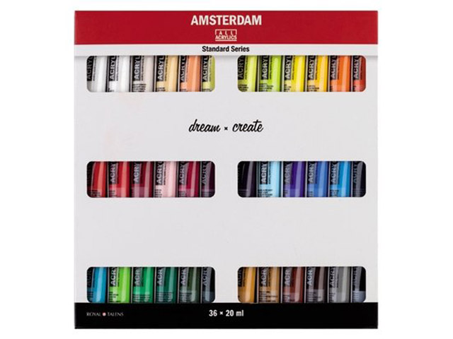 Set 36 tubes 20 ml Acrylique Amsterdam