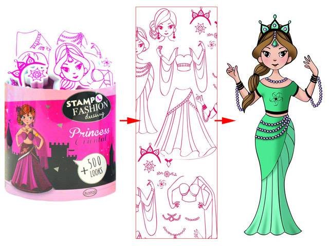 Stampo Fashion Dressing Princess Orientale