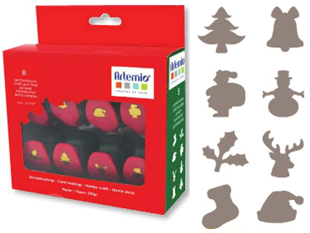 Set de 8 Mini Perforatrices de Noël