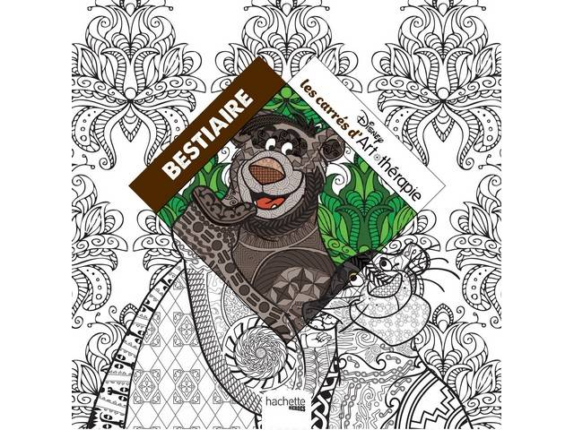 Livre 100 Coloriages Disney Bestiaire Art Therapie