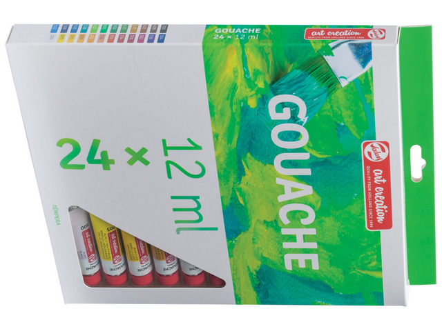 Set de 24 Tubes 12 ml Gouache Artcréation