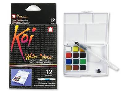 Set de 12 Aquarelles Koi Colors Sketch Box