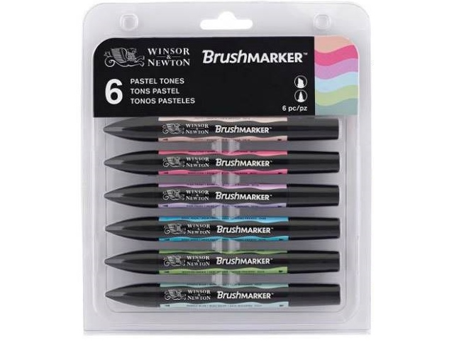 Assortiment 6 Brushmarker Tons Pastels