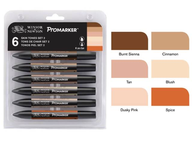 Assortiment Promarker 6 feutres - tons chair Set 2