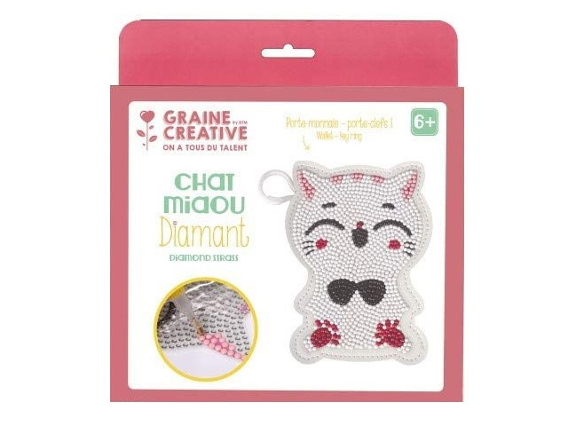 Kit Diamond Mosaic Porte-Monnaie - Chat