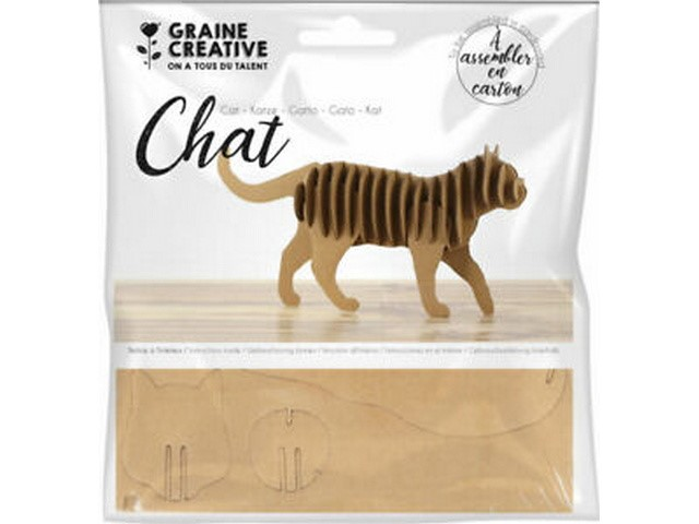Maquette Chat Carton 220x110x45 mm