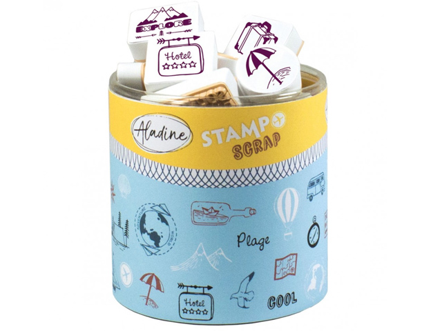 Stampo Scrap Voyages - 46 tampons Aladine