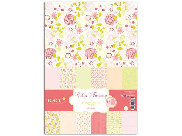 Color Factory A4 48 Feuilles Rose-Vert