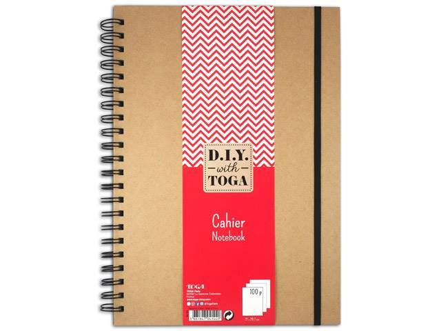Cahier Kraft Spirales 100 Pages – 21X29,7Cm