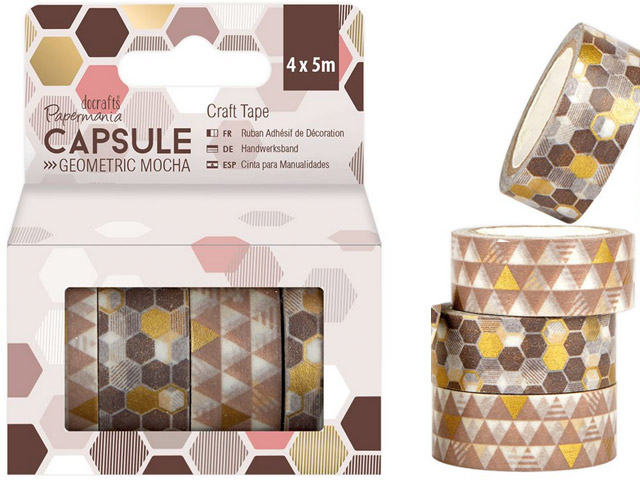 Craft Tape Geometric Mocha Scotch 4X5M