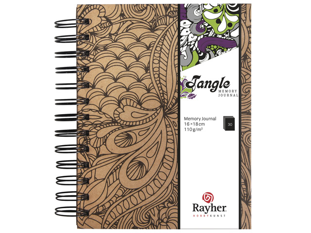 Tangle Memory Journal Jungle Coloriage Anti Stress Spiralé