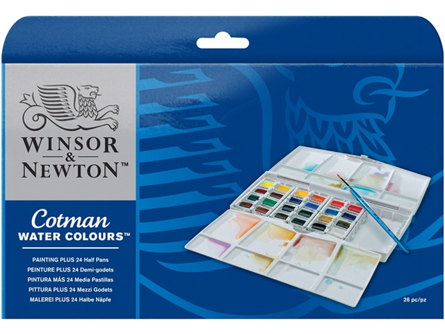 Painting PLUS 24 1/2 godets Aquarelle Winsor & Newton